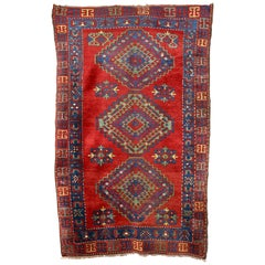 Antique, Fine, Caucasian Carpet, Rug, Hand Knotted