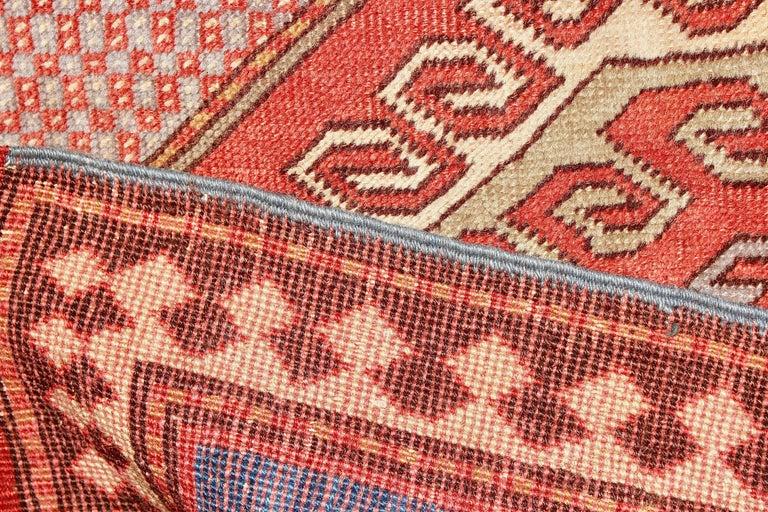 Antique, Fine, Caucasian Carpet, Rug, Kazak, Hand Knotted For Sale 1