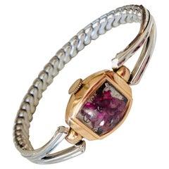 Antique Fine Watch Talisman Bracelet Filled with Vintage Rubies
