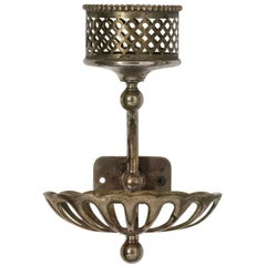 Antique Finish Nickel Cup and Soap Holder, circa 1900