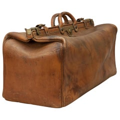 Antique Finnigan Leather Gladstone or Kit Bag