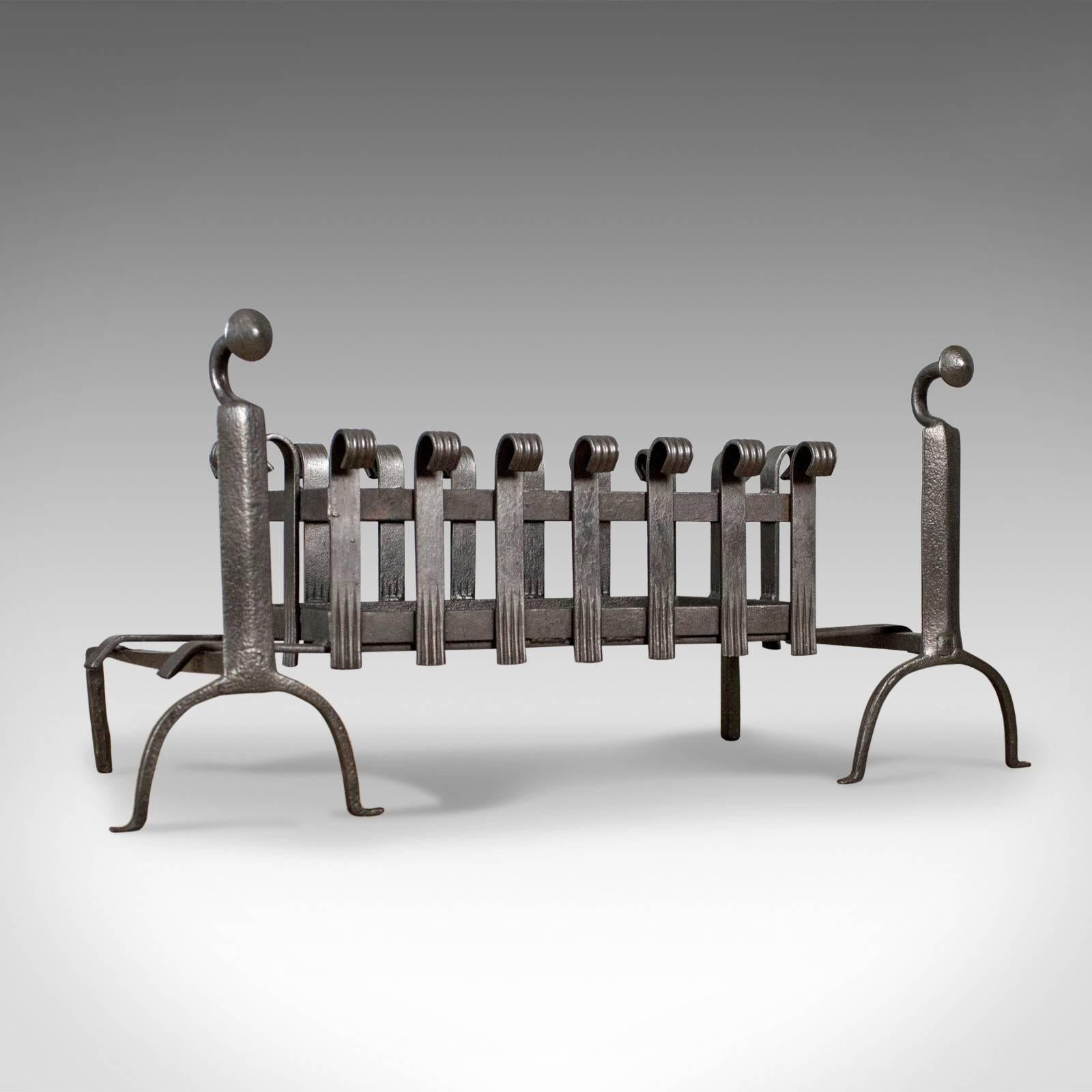 Solid Steel Fire Basket Fire Andiron Dog Grate 3 SIZES Fireplace Fire Grate