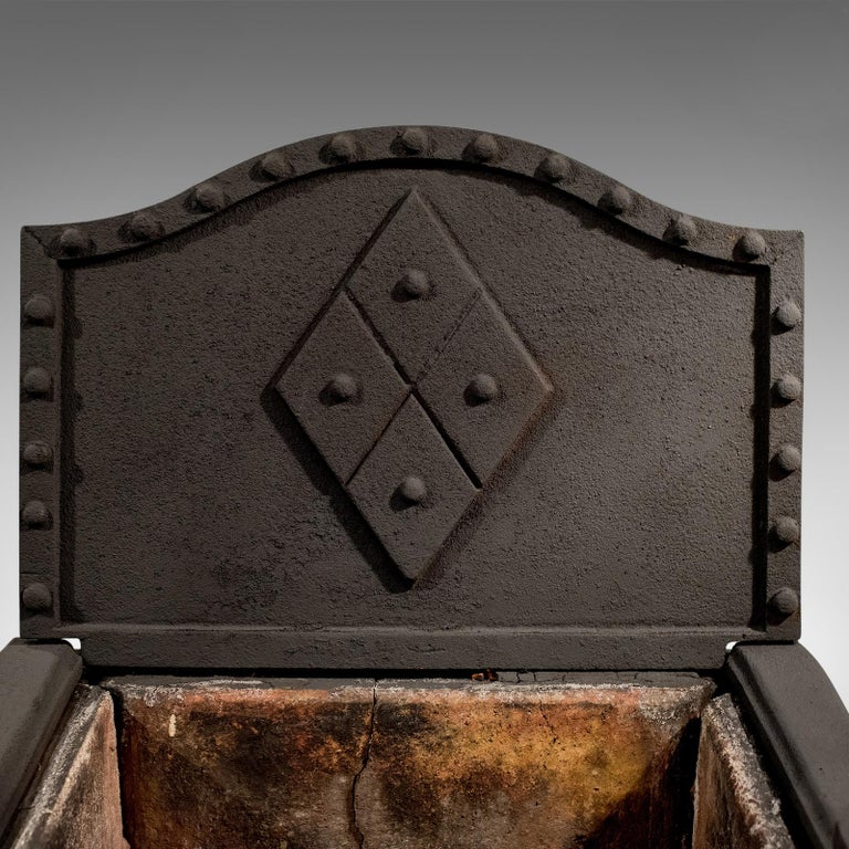 19th Century Antique Fire Basket, English, Victorian, Free Standing, Cast Iron Grate