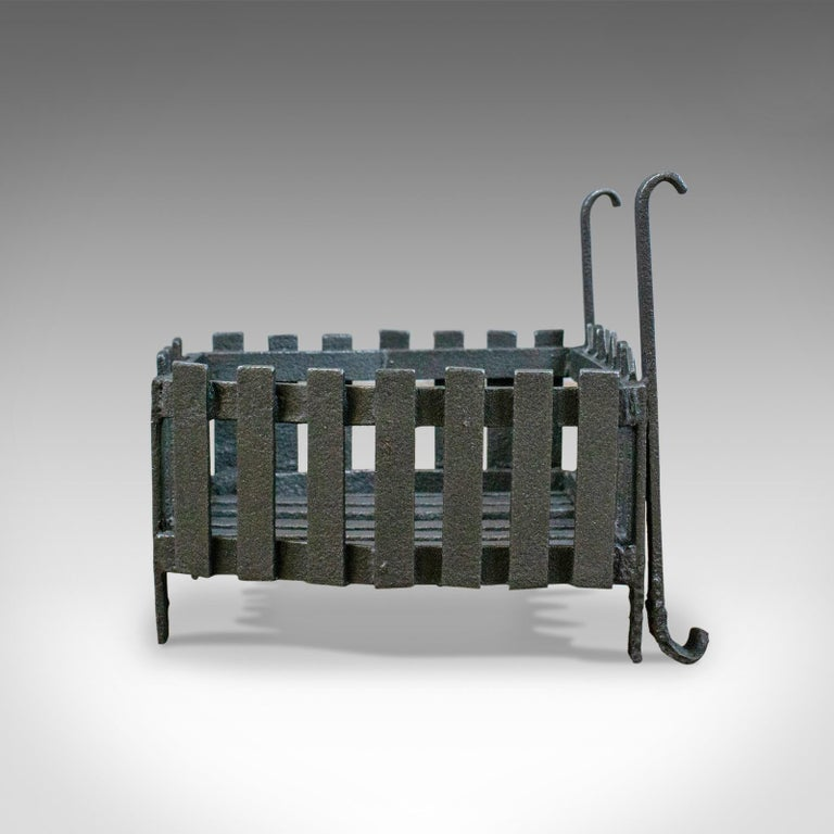 Late Victorian Antique Fire Basket, Free Standing, Victorian, Fireplace, Grate, circa 1900 For Sale