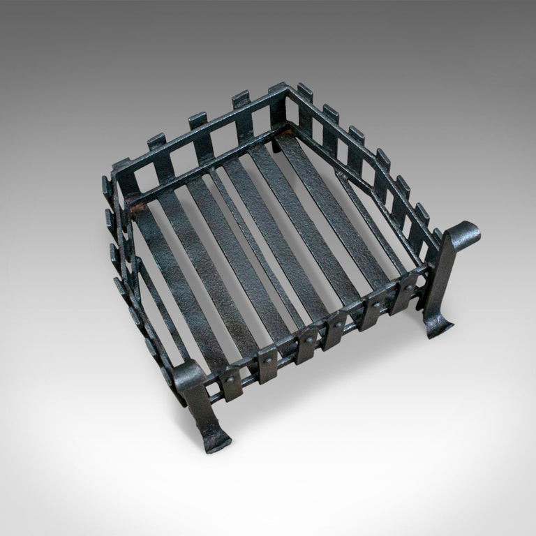 English Antique Fire Basket, Free Standing, Victorian, Fireplace, Grate, circa 1900 For Sale