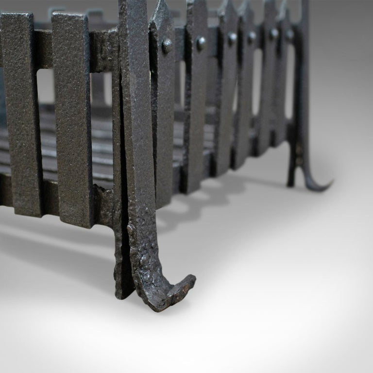 19th Century Antique Fire Basket, Free Standing, Victorian, Fireplace, Grate, circa 1900 For Sale