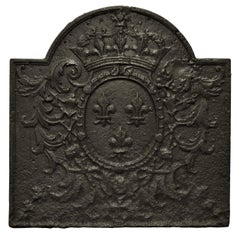 "Antique Fireback / Backsplash "" Coat of Arms of France"""