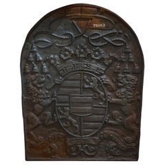 Antique Fireback Depicting Royal Coat of Arms