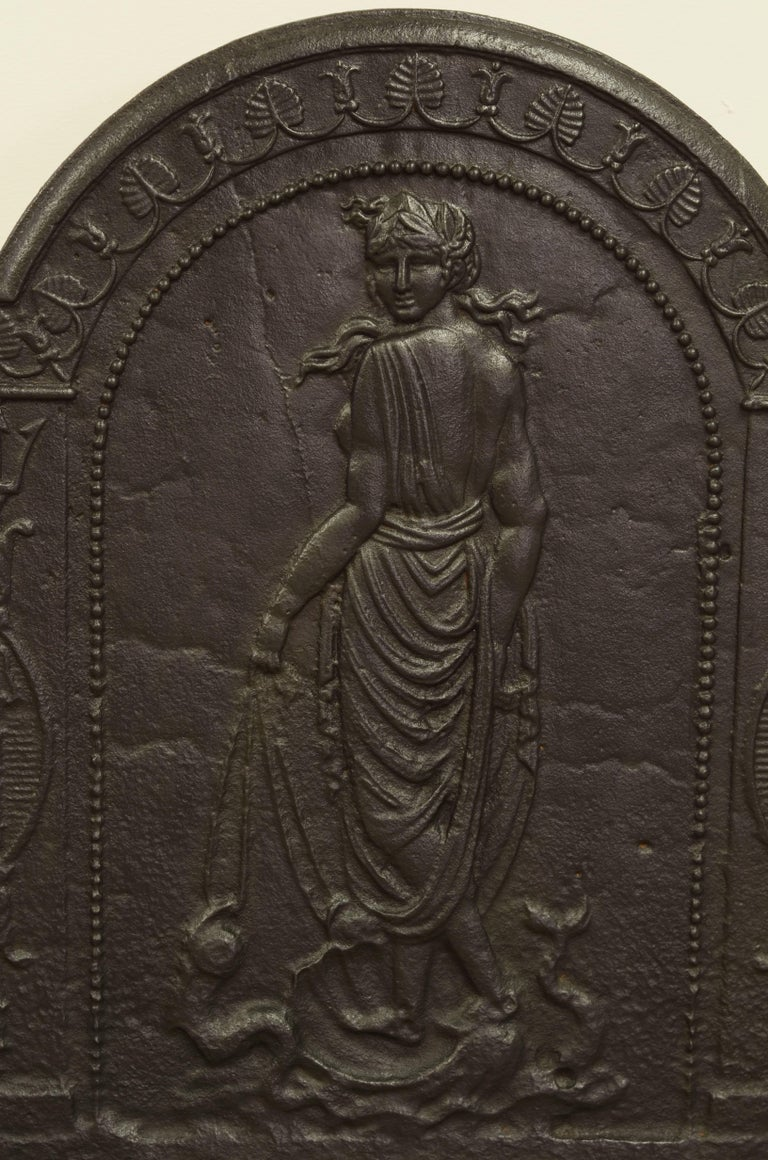 Louis XVI Antique Fireback Displaying Venus, Goddess of Love Beauty and Fertility For Sale