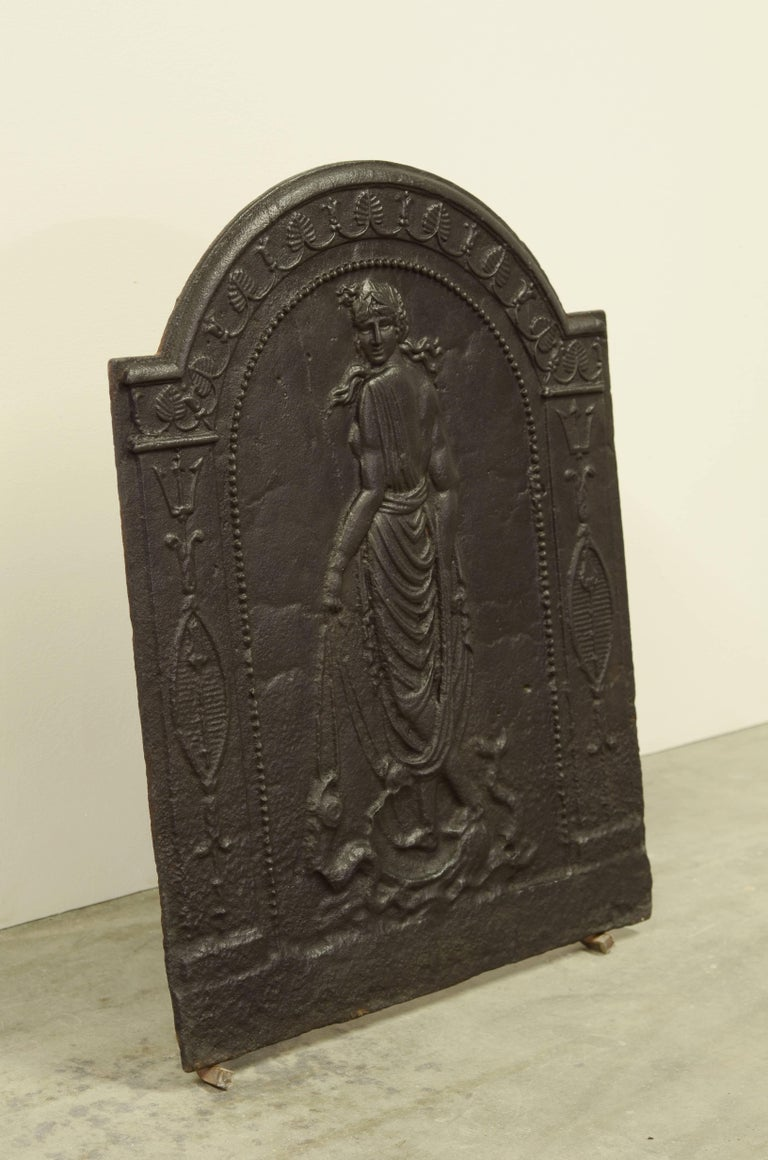 European Antique Fireback Displaying Venus, Goddess of Love Beauty and Fertility For Sale