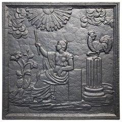 Antique Fireback Goddess Eos