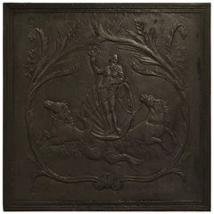 "Antique Fireback, Showing Poseidon ""God of the Seas"""