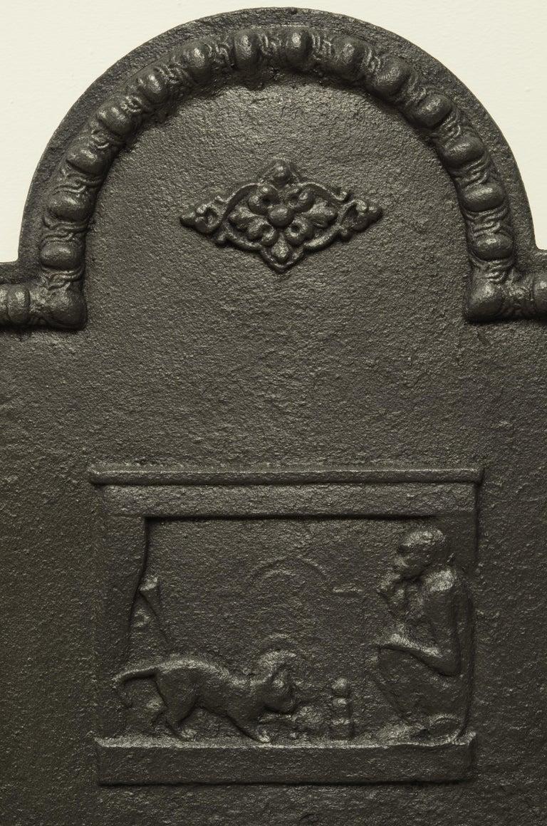 Louis XVI Antique Fireback, Small and Decorative For Sale