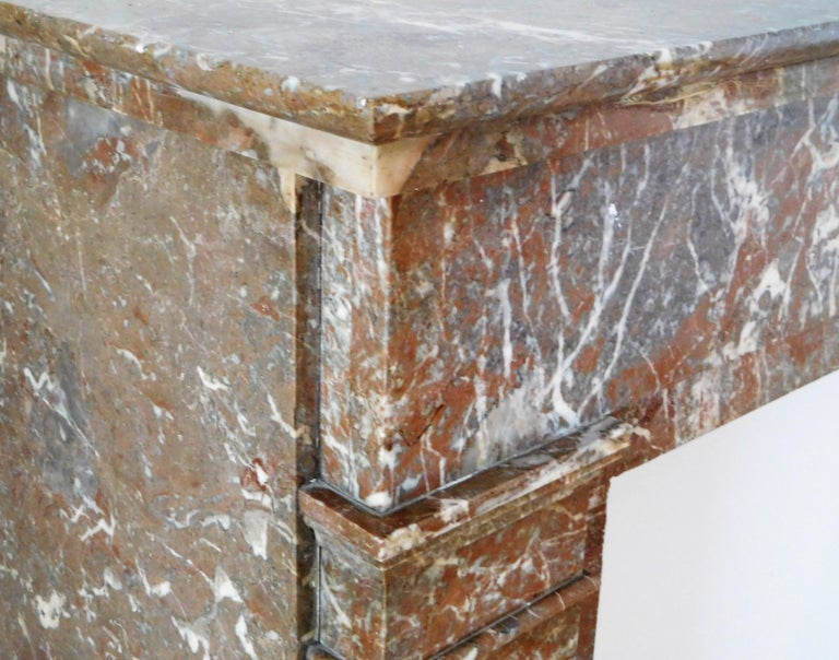 20th Century ART DECO Fireplace in Sprightly Red Marble For Sale