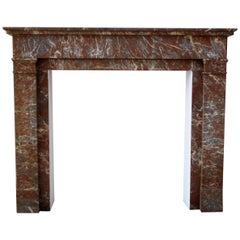 ART DECO Fireplace in Sprightly Red Marble