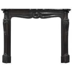 Antique Fireplace in Black Marble