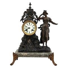 Antique Fireplace Mantel Clock, France, circa 1900