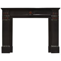 Antique Fireplace Mantel in Black Marble