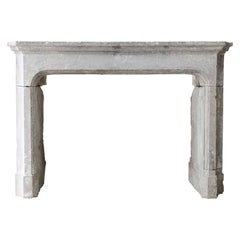 Antique Fireplace of French Limestone from the 19th Century