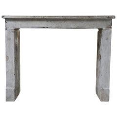 Antique Fireplace of Marble Stone, Style of Louis XVI
