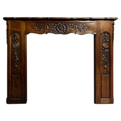 Antique Firplace Mantel Made from Oak, 19th Century