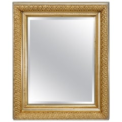 Antique First Finish Gold Giltwood Wall Mirror, Circa 1890