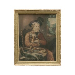 Antique Fishing Mezzotint, Anglers Lunch