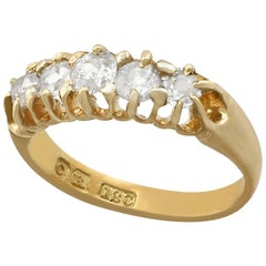 Antique Five-Stone Diamond Ring in Yellow Gold