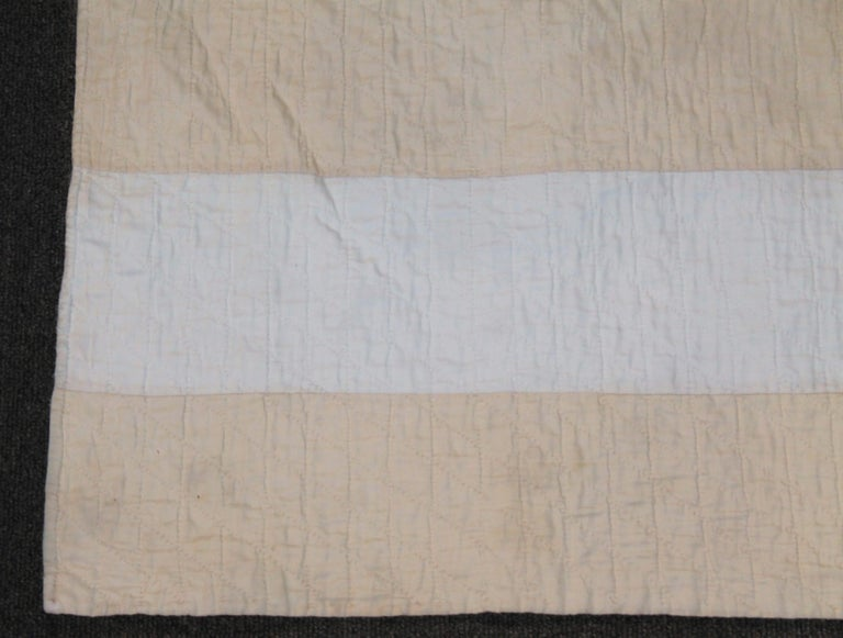 20th Century Antique Flag Quilt from 1915 Hand Sewn Stars For Sale