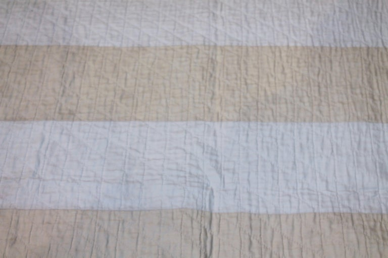 Cotton Antique Flag Quilt from 1915 Hand Sewn Stars For Sale