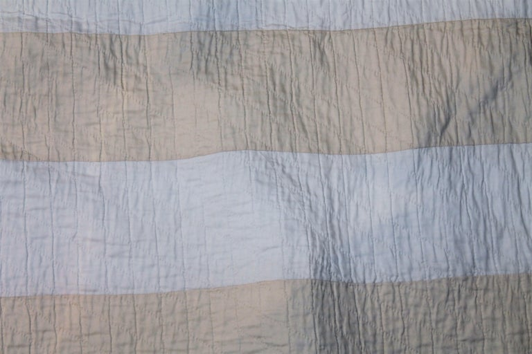 Antique Flag Quilt from 1915 Hand Sewn Stars For Sale 1