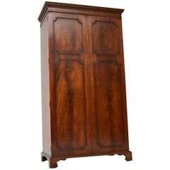 Antique Flame Mahogany Two-Door Wardrobe