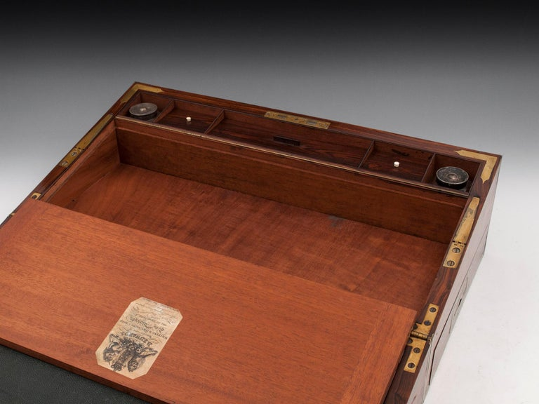 Antique Mahogany Writing Box has secret compartments Early 19th Century  For Sale 6