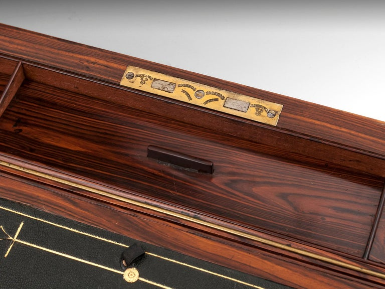 Antique Mahogany Writing Box has secret compartments Early 19th Century  For Sale 7