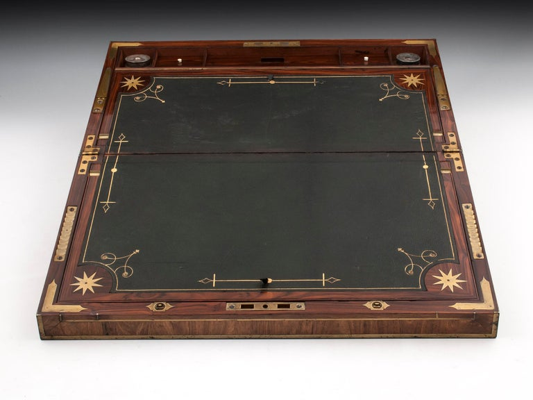 Antique Mahogany Writing Box has secret compartments Early 19th Century  For Sale 1