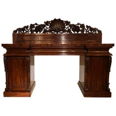 Antique Flamed Mahogany Sideboard