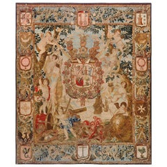 Antique Flemish Heraldic Tapestry of a Spanish Nobel Admiral