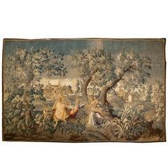 Antique Flemish Pastoral Tapestry, circa 1740