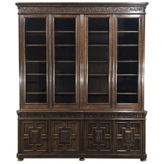 Antique Flemish Renaissance Bookcase