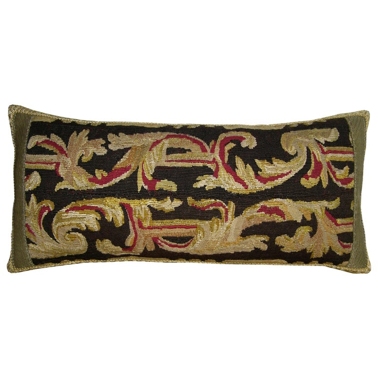Antique Flemish Tapestry Pillow, circa 19th Century 1714p For Sale