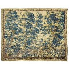 Antique Flemish Verdure Tapestry, circa 1720    9'6 x 12'2