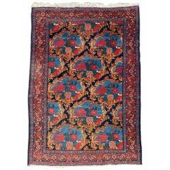 Antique Floral Aubusson Design Senneh Rug