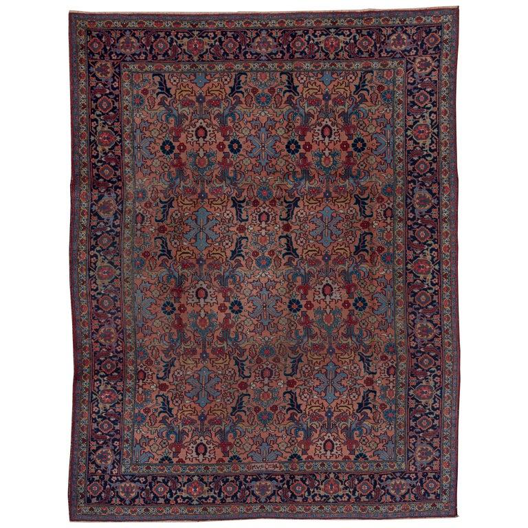 Antique Floral Heriz Carpet Circa 1930s For Sale At 1stdibs