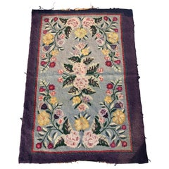 Antique Floral Hooked Rug