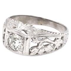 Antique Floral Motif Diamond Ring