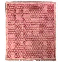 Antique Floral Rug Red and Pink Transitional Design