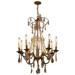 Antique Florentine Crystal Chandelier