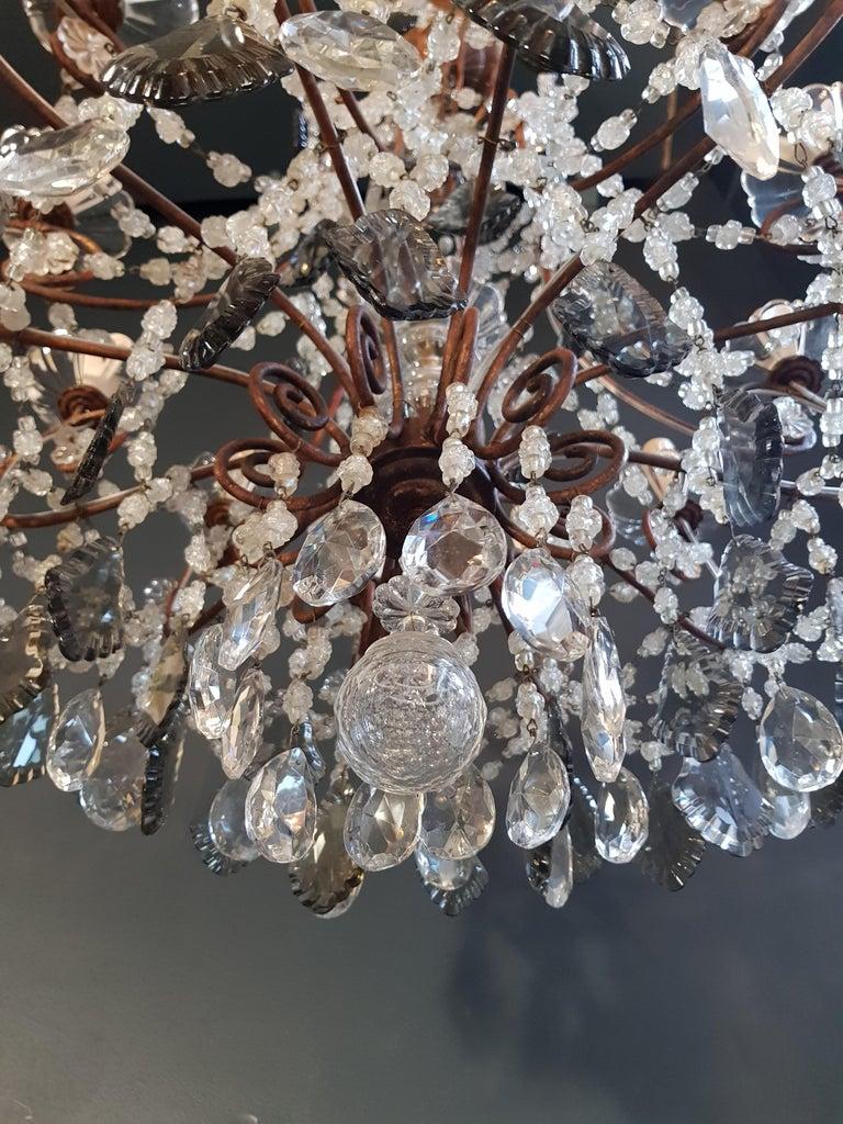 Antique Florentiner Crystal Chandelier Ceiling Lamp Lustre Art Nouveau Rarity 11