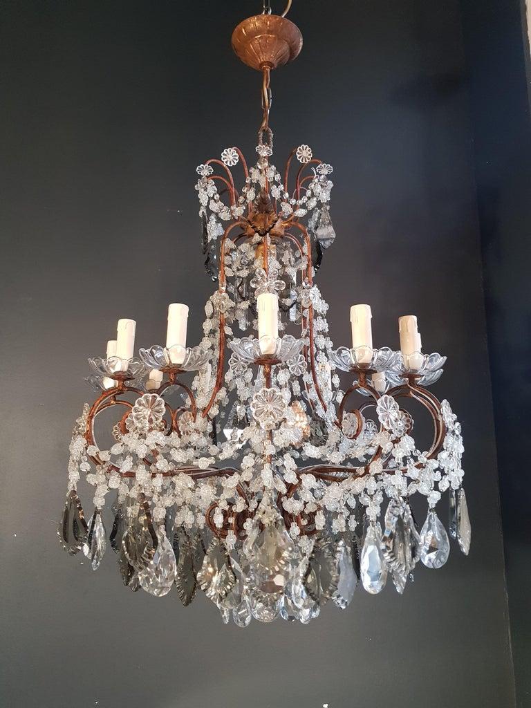 Antiker Florentiner Kristall-Kronleuchter Deckenlampe Lüster Jugendstil Rarität 8