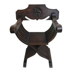 Antique Folding Curule Armchair
